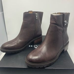 Coach Georgetta Leather Brown Ankle Boots 8.5 M